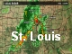 This shows the current weather radar image for the St. Louis metropolitan area provided by KSDK.